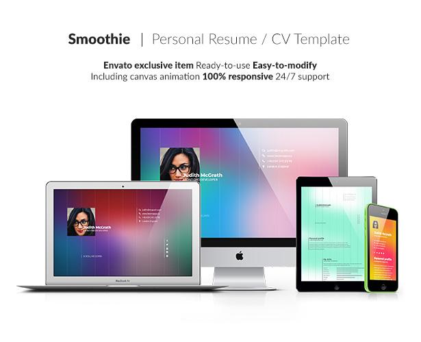 Smoothie - Personal resume - 1